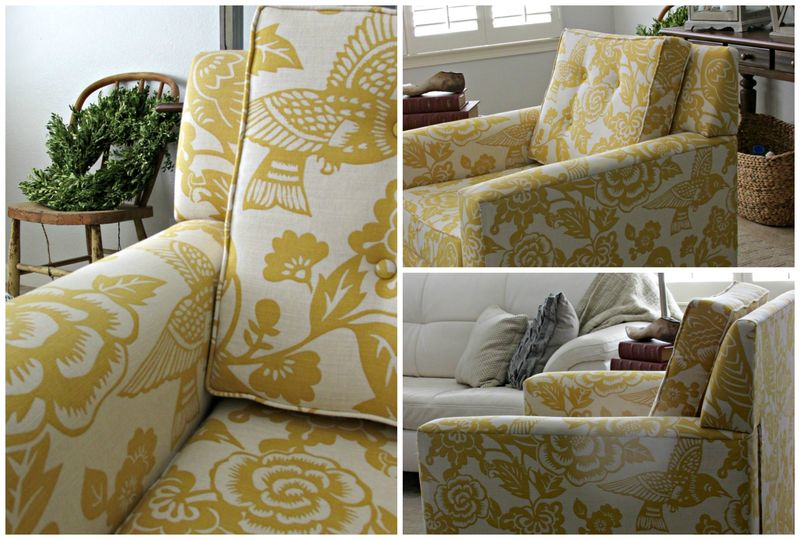 Yellow bird chair