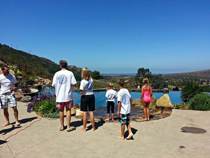 Family tees pool small