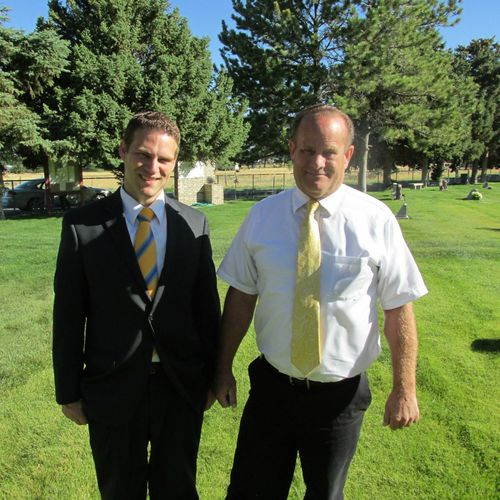 Graveside service- Kent and Dad