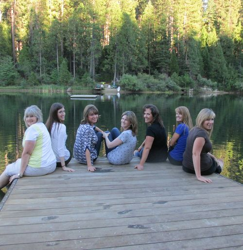 Girls on the dock 2