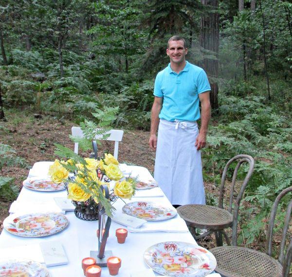 Dinner in the woods Sam