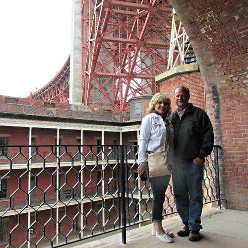 Fort at golden gate bridge Dan and teresa