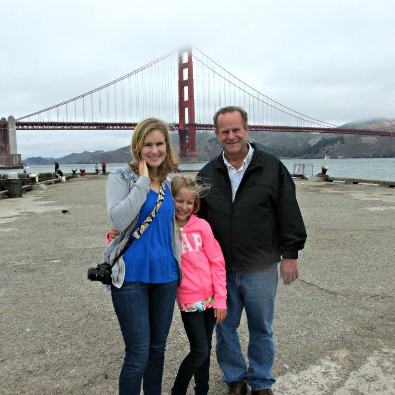 Shannon anna and dad golden state bridge
