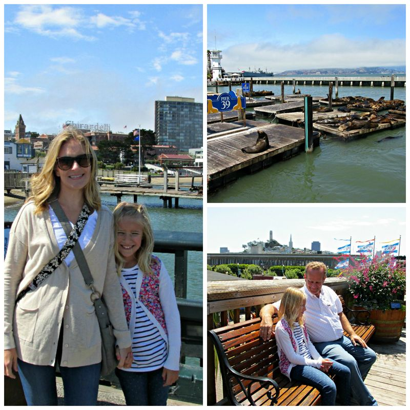San Francisco pier 39Collage