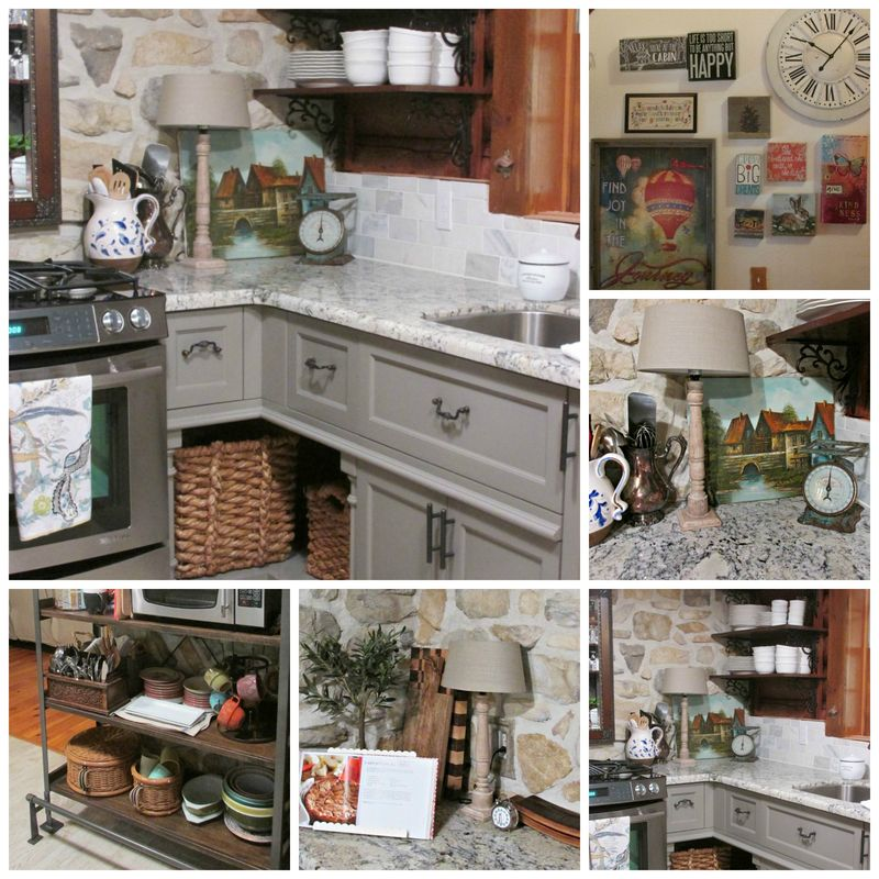 Cabin kitchen Collage