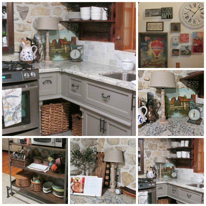 Cabin kitchen Collage