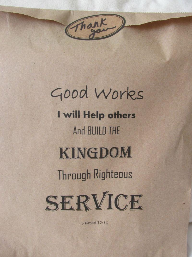 YW Good Works envelope