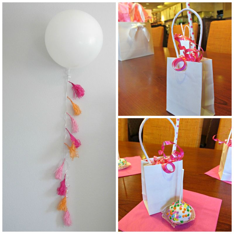 Pop up baby shower balloonCollage