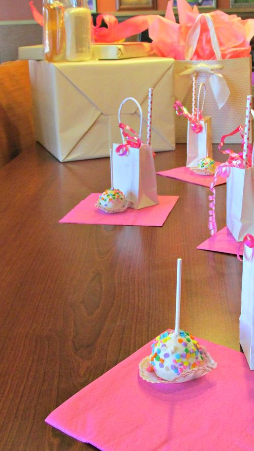 Pop up baby shower table cake pops