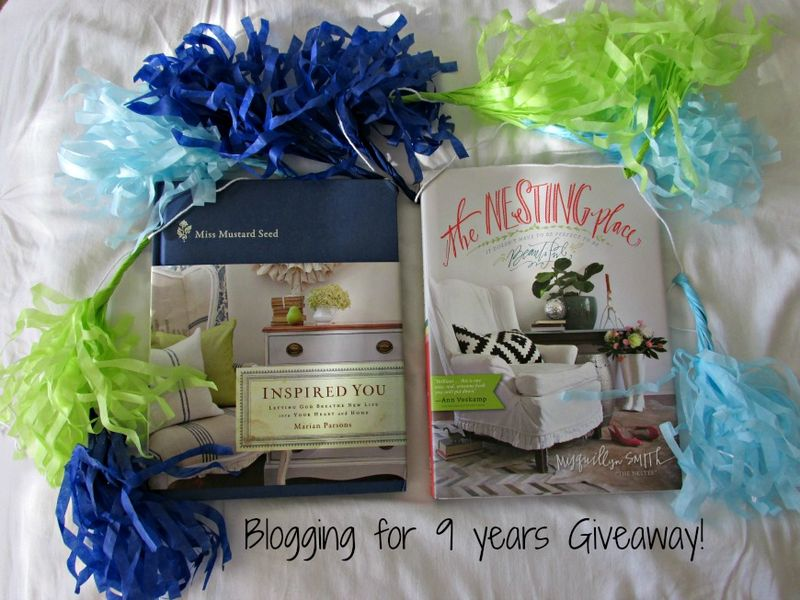 Blog giveaway 9 years