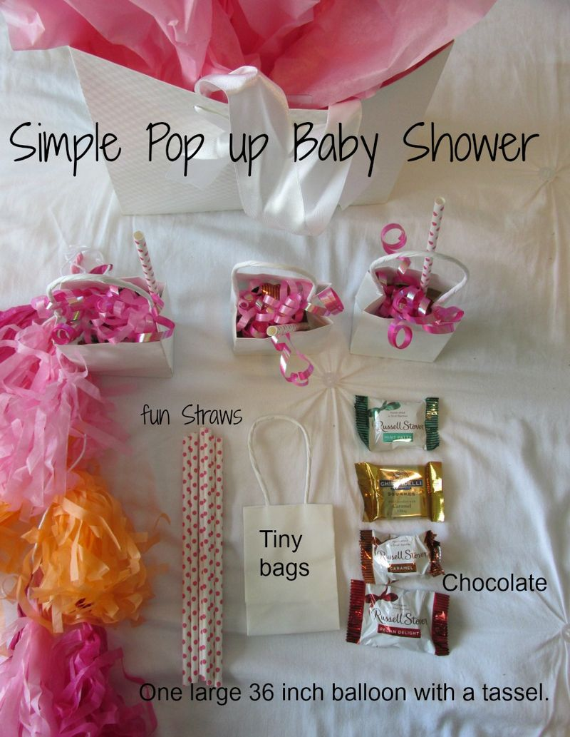 Simple pop up Baby shower party