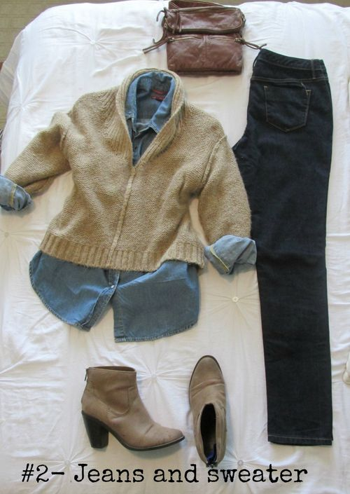Bike outfit jeans and sweater
