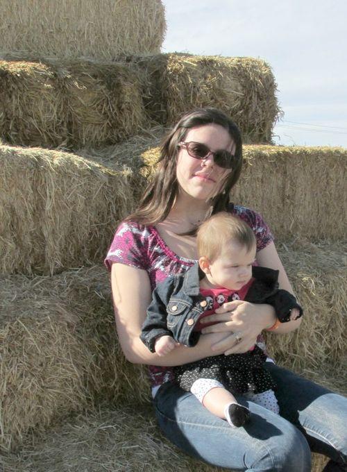 Corn maze haystack jessica