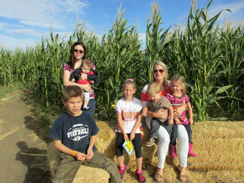 Corn maze group photo