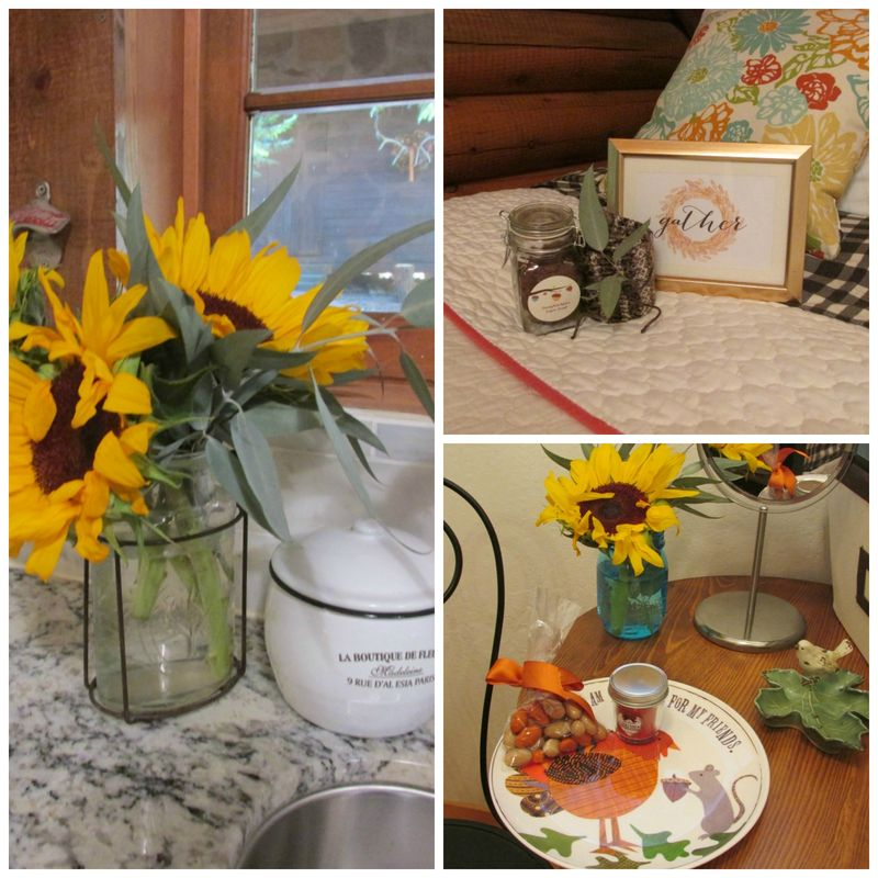 Enchanted cabin favors Collage