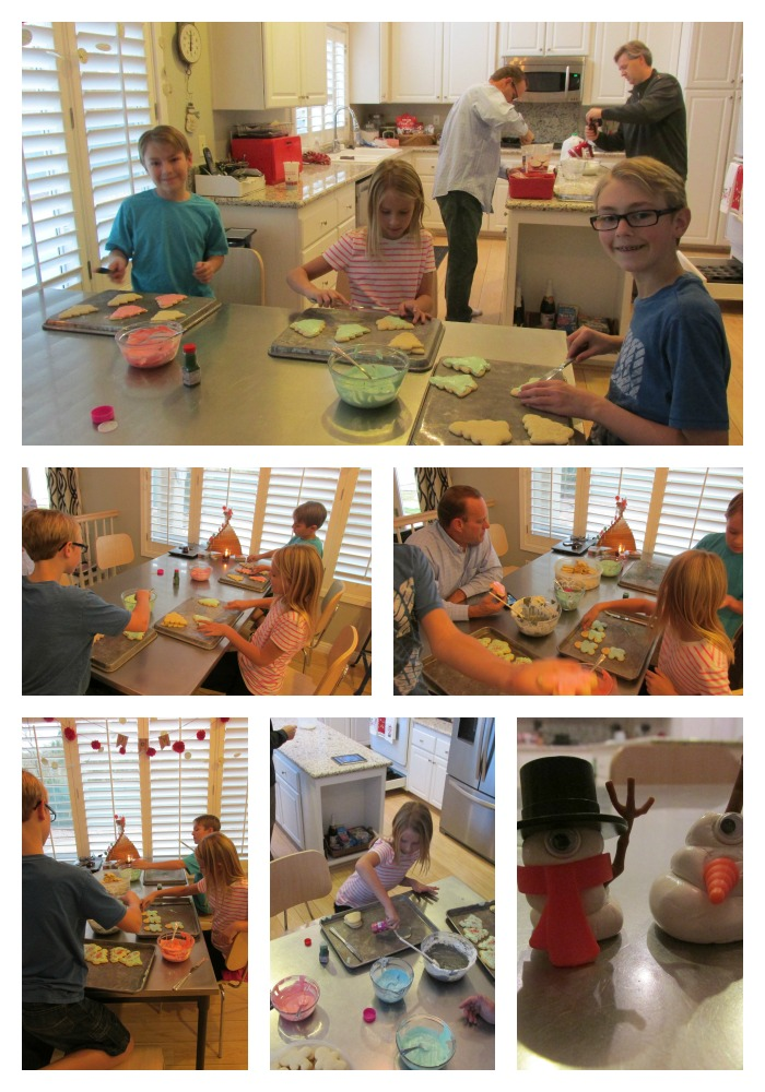 Christmas cookies making Collage