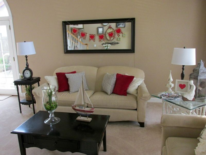 Valentines living room