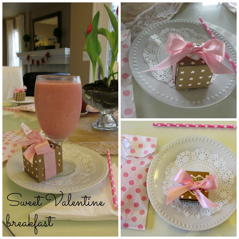 Valentine breakfast  Collage