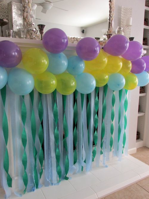 Birthday mantel backdrop