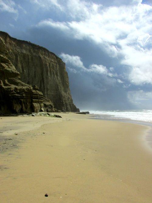 Pomponio state beach cliff