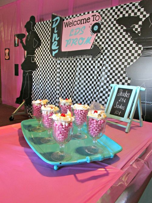 LDS Prom welcome table