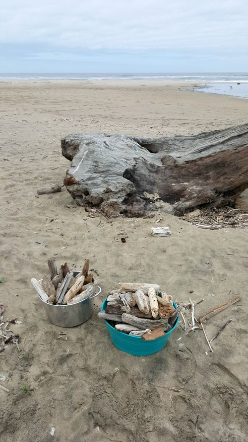 Sailboat driftwood pails