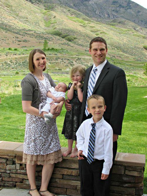 Christians blessing day family