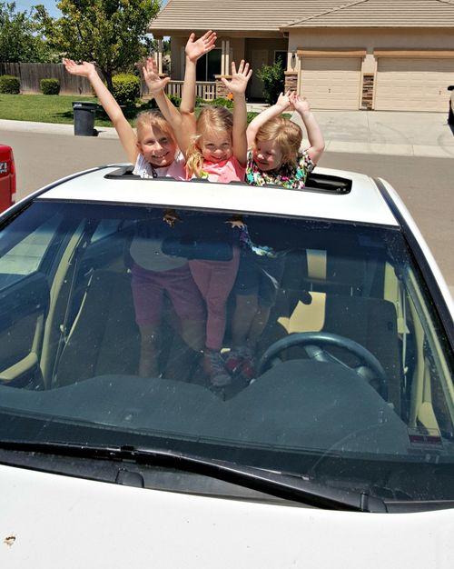 Kent and Becca's visit girls car