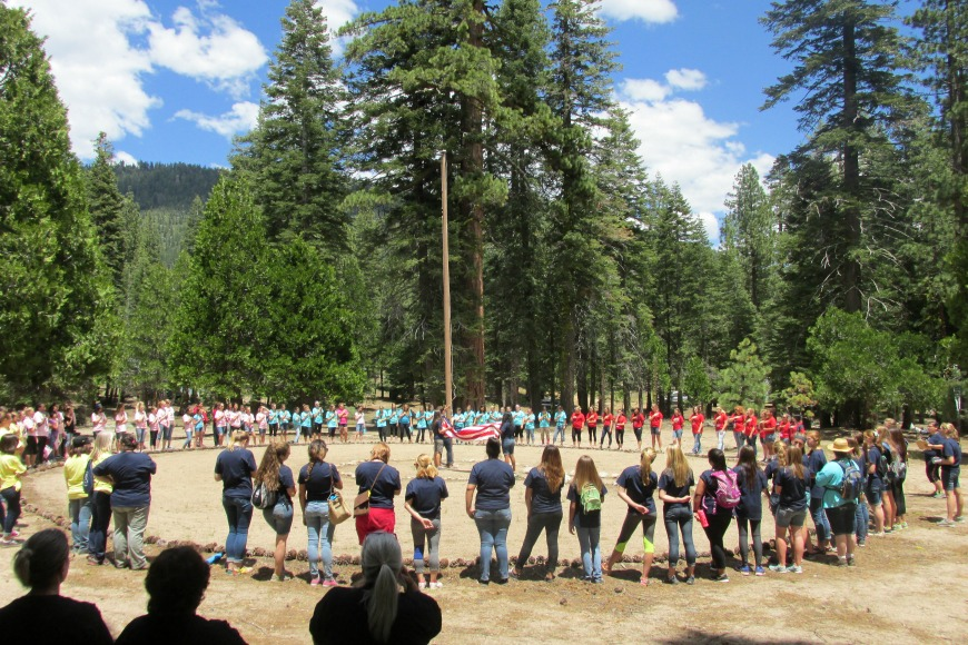 whatever: Young Women girls camp