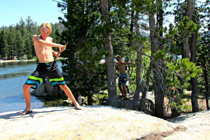 Alpine lake Conner and payton