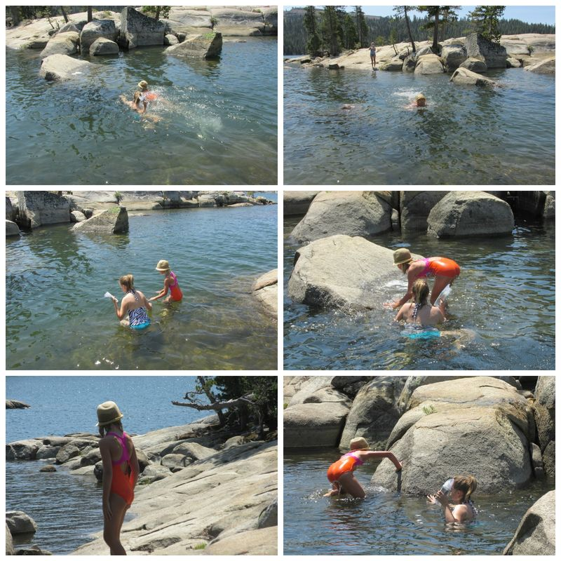 Alpine lake shannon and anna Collage