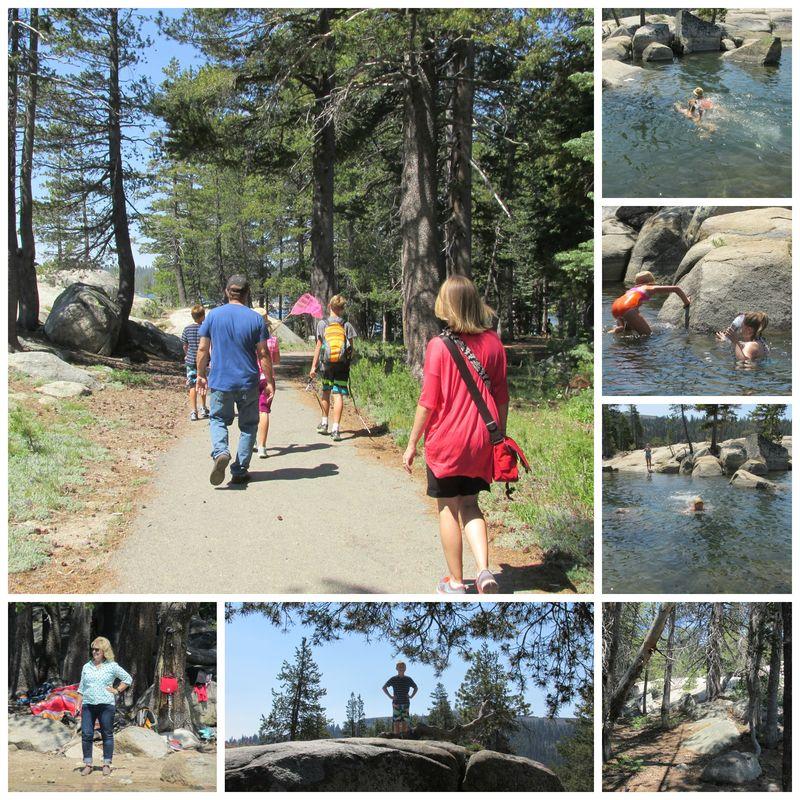 Cabin Alpine lake hike Collage