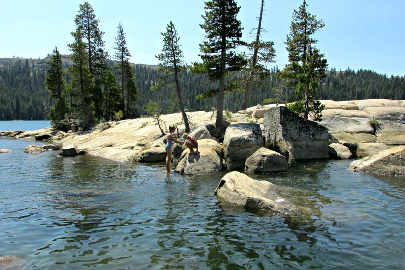 Alpine lake Shannon island