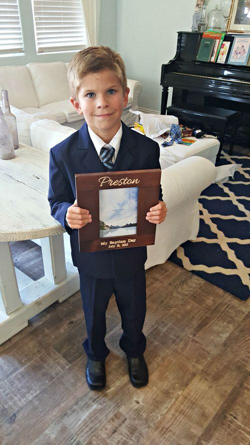 Preston baptism day frame