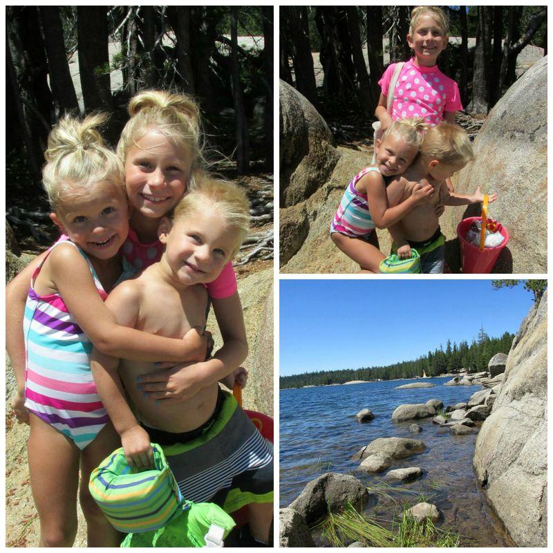 Alpine lake girls  Collage