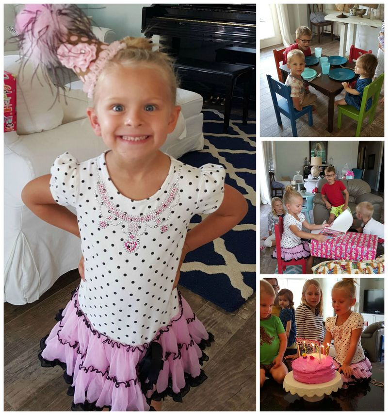 Audrey 5th birthday  Collage