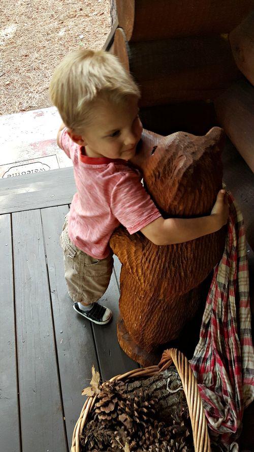 Fall at the cabin bear hugs