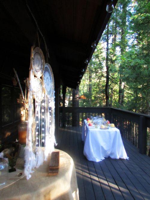Fall- dream catcher and terrarium table