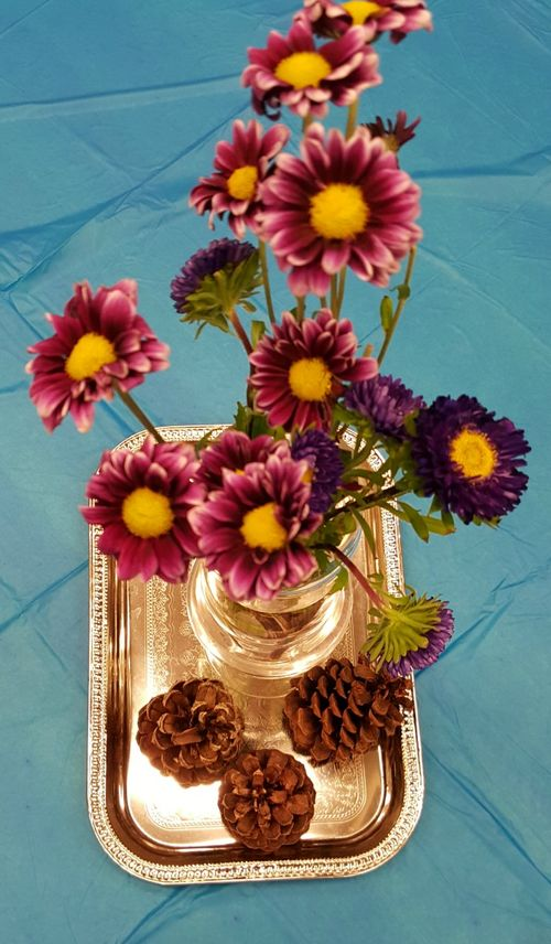 Relief society super saturday table centerpiece