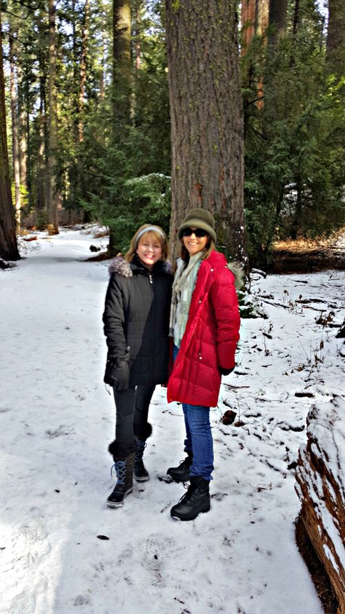 Snowshoeing kristin and sandi