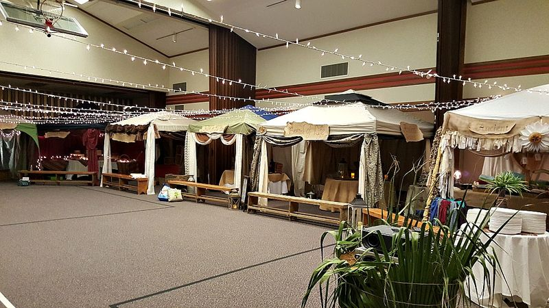 A night in Bethlehem- marketplace tents