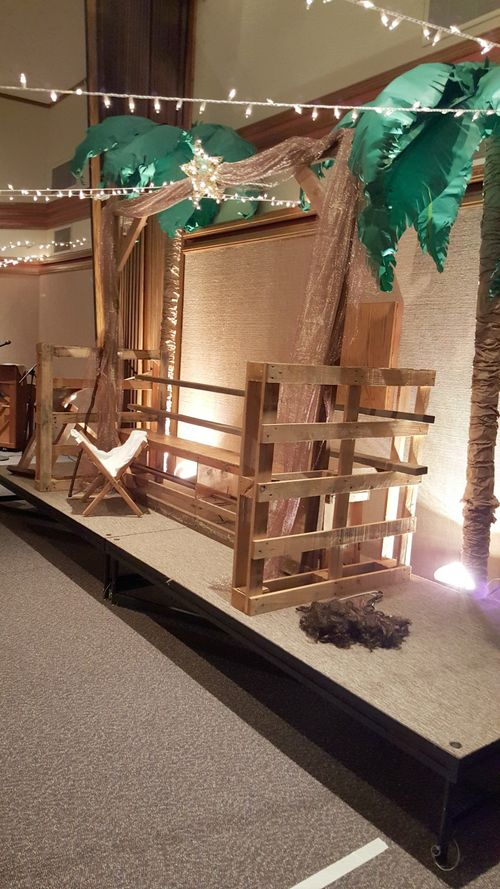 A night in Bethlehem- manger set up