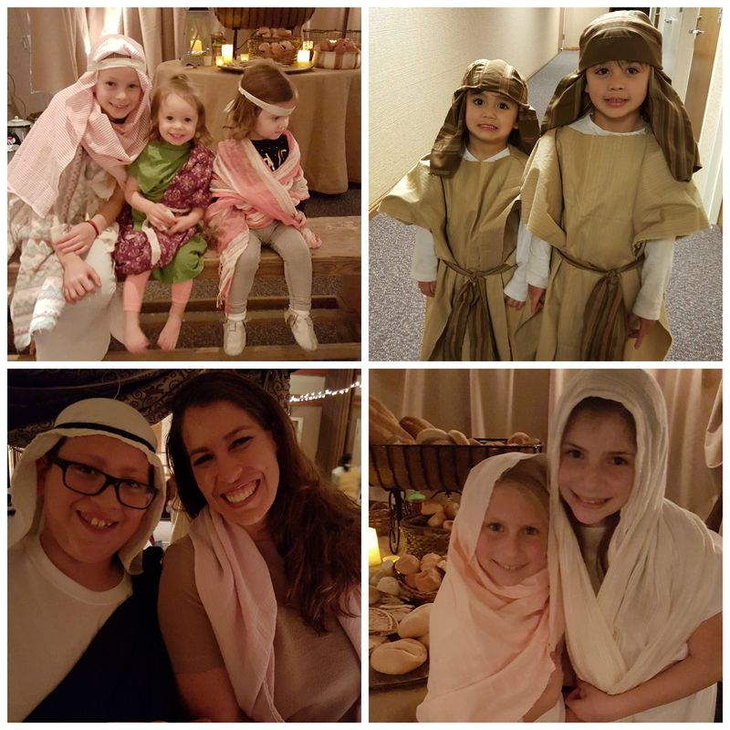 A night in Bethlehem- alene and girls Collage