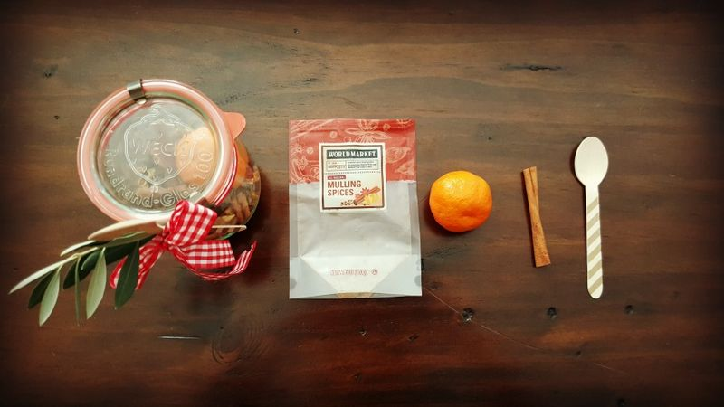 Christmas gift- mulling spices jar