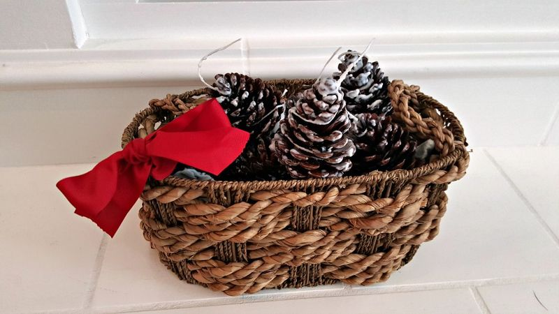 Pine cone fire starters basket
