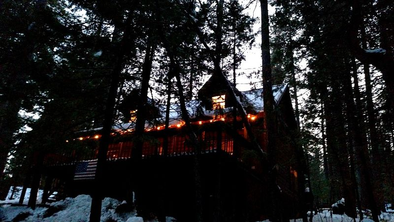 Cabin- New Years eve lights