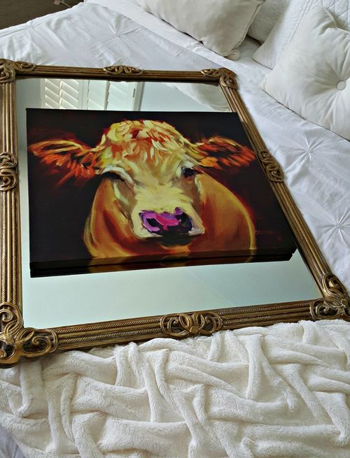 Poppyhill mirror and cow
