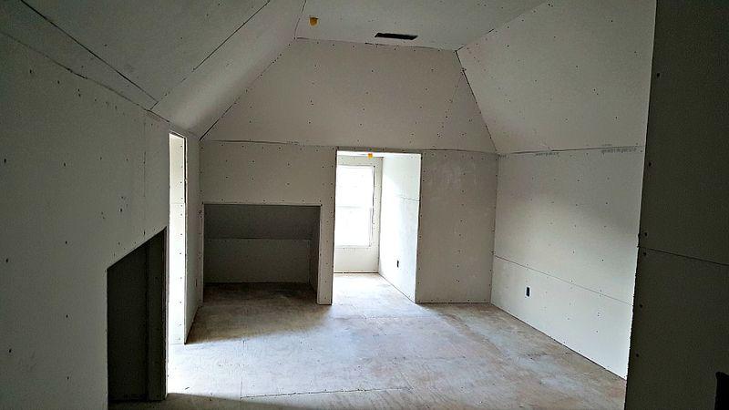 Poppy hill play room dry wall