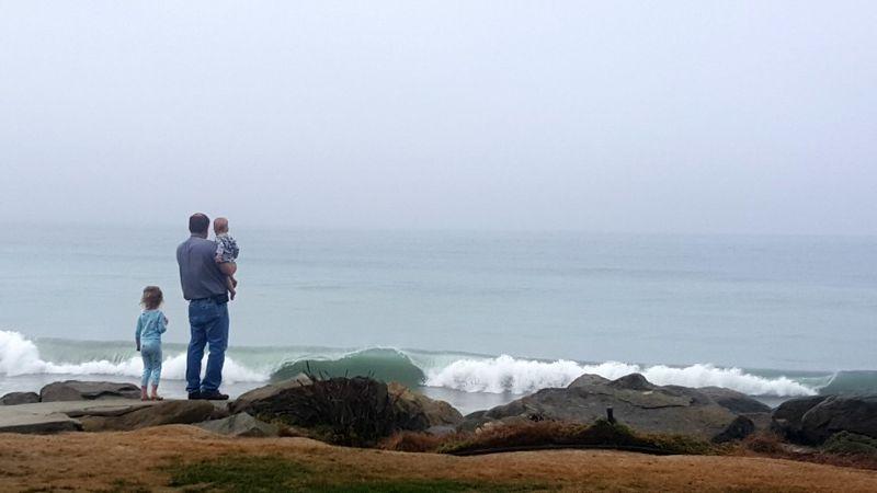 Oceanside dan and kids in the morning