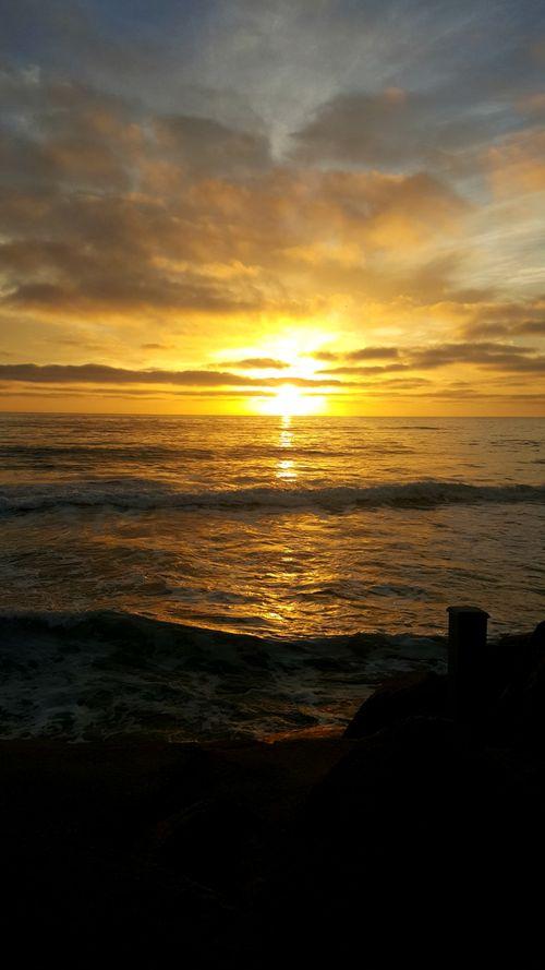 Oceanside sunset from back door